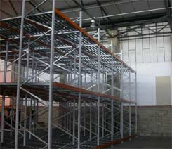 push back design racking