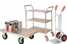 stainless and zinc plated trolleys